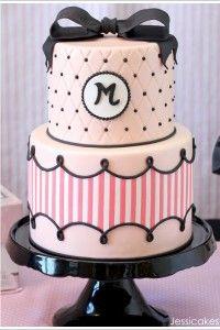 Paris Fashion Birthday Party Cake