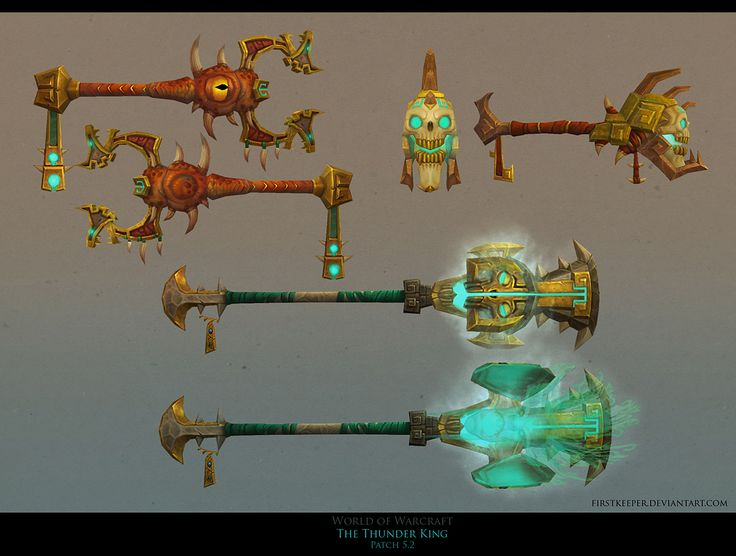 Thunder Island weapons by FirstKeeper.deviantart.com on @deviantART
