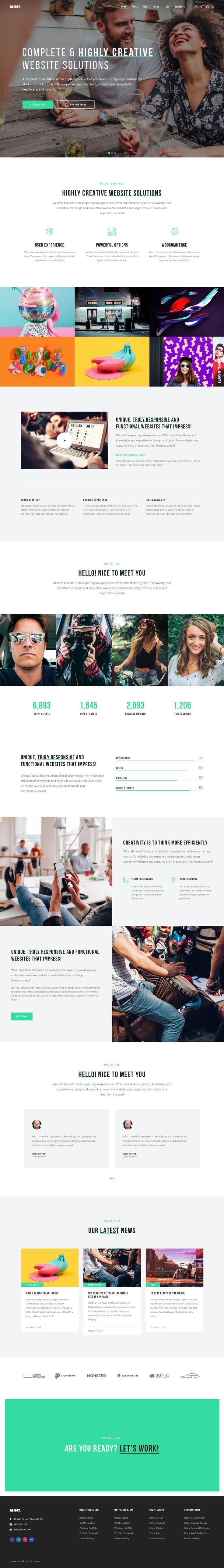 Mint Theme for Creatives on Behance