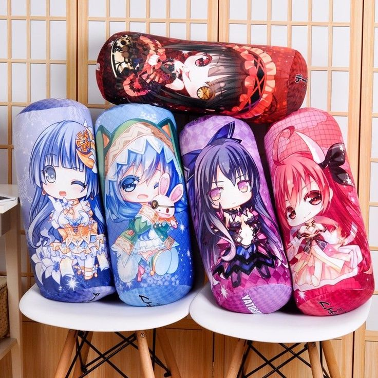 Anime Date A Live Tokisaki Kurumi Dakimakura Cylindrical Candy Neck Throw Pillow