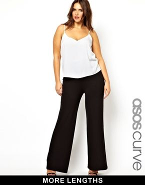 ASOS CURVE Pant With Wide Leg