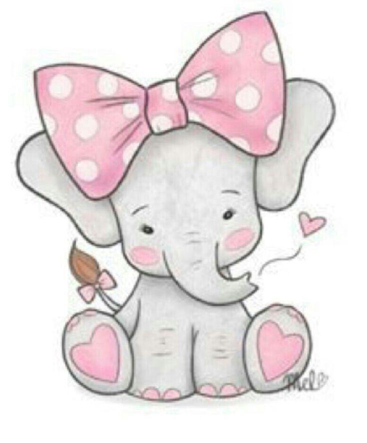 Pin by Ellen Davis on elephants | Baby elephant drawing ...