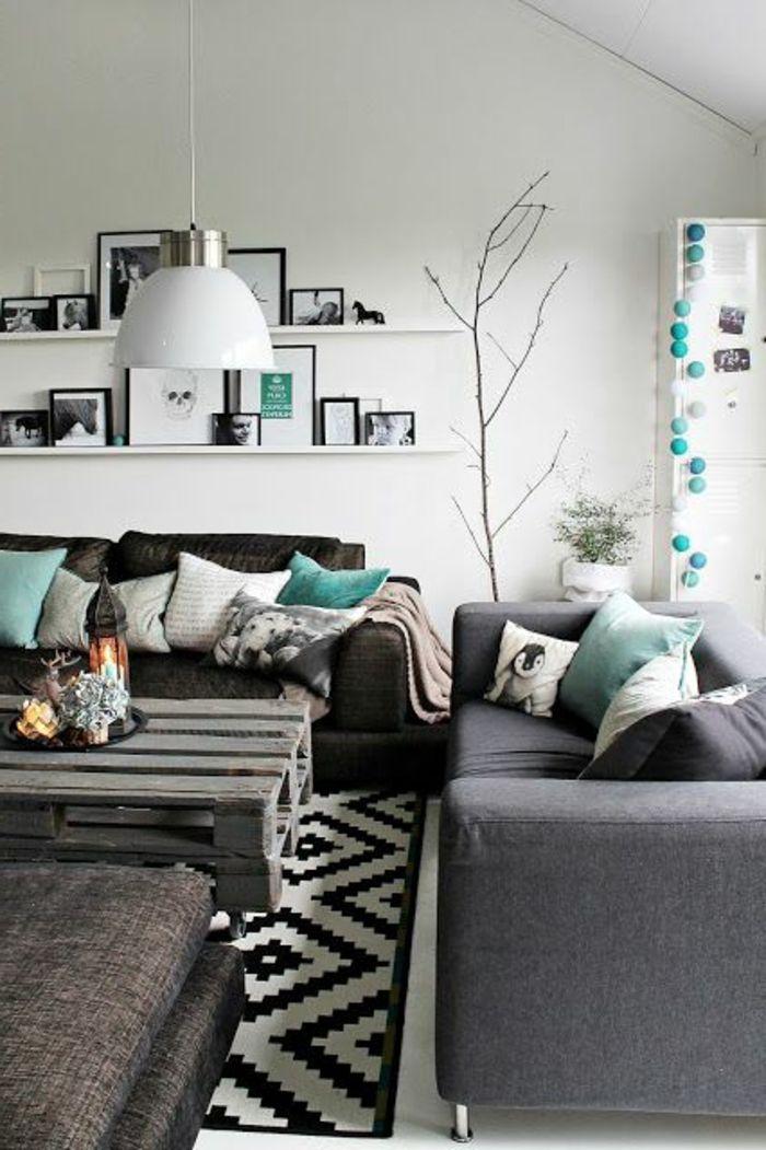 meubles de salon et quelle idee déco salon pas cher avec meubles gris                                                                                                                                                                                 Plus