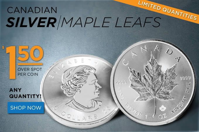 Buy Now: https://www.coincommunity.com/go/_to.asp?target=https://www.goldeneaglecoin.com/item/silver-maple-leaf-1-oz-uncirculated-_-random-year  Golden Eagle Coin Sale: Silver Maple Leaf 1 oz Uncirculated - $1.50 Over Spot - Coin Community Forum