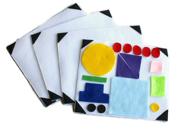 Shapes Felt Board Quiet Activity Felt Activity by myraecreationsGreat for children to learn their shapes and use their imagination to create different pictures with the felt pieces and acting out a scene.