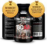 Top BCAA Branched Chain Amino Acids  180 High Strength Capsules for Lean Muscle Growth Rapid Muscle Recovery and Increased Fat Burn  Most potent ratio of L-Leucine L-Isoleucine & L-Valine available  Made in The USA  Guaranteed results or your money back