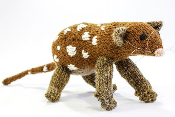 Hand Knit Australian Bandicoot Soft Toy Knitted by heaventoseven, $65.00