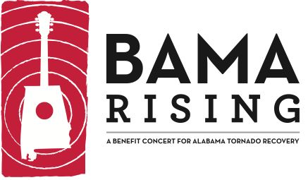 logo design for bama rising - a benefit concert for alabama tornado recovery in 2011 | zeekee