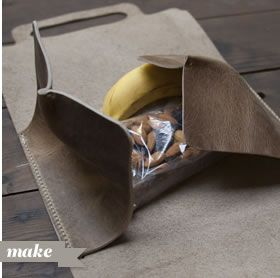Leather Lunch Tote Instructions.  One day I'll make one of these. #manstuff #manliness #manly