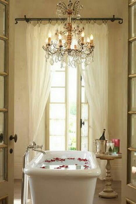 2256 best images about my romantic shabby chic home on for Small romantic bathroom ideas