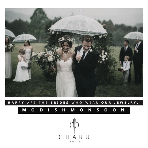Happy are the brides who wear our jewelry. #couture #bridalcollection #brides #monsoonbride #modishmonsoon #weddingjewelry #monsoonwedding #rains #crystals #jewelryjunkie #wedding #monsoon