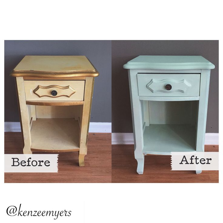 Before and after - Craigslist nightstands - DIY - Chalk ...