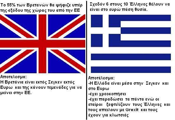Ο ευρωσκεπτικισμός είναι η λύση Η Βρετάνια είναι εκτός Σεγκεν εκτός Ευρω και της κάνουν τεμενάδες για να μείνει στην ΕΕ Η Ελλάδα είναι μέσα στην Σεγκεν και στο Ευρω έχει χρεοκοπήσει, έχει παραδώσει…