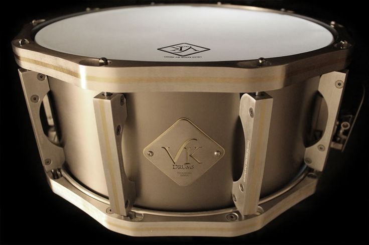Alan van Kleef is one of the few drum builders who has uniquely chosen Sheffield stainless steel for all of his components in his drums.