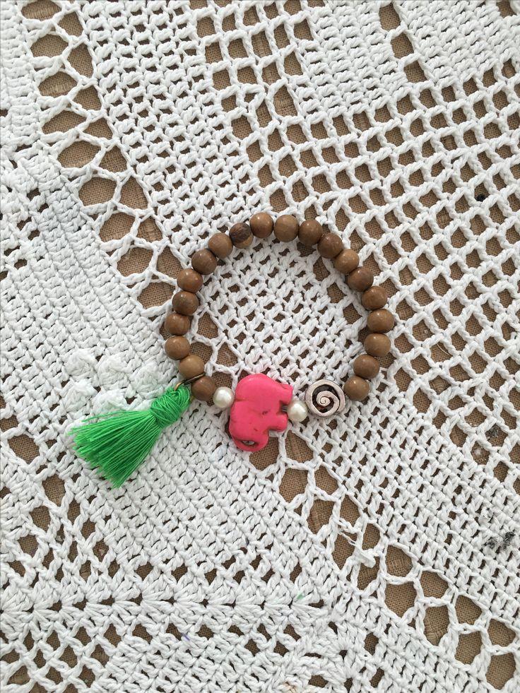 Azl Design Summer 2017 Collection /Pink Elephant Bracelet 25$