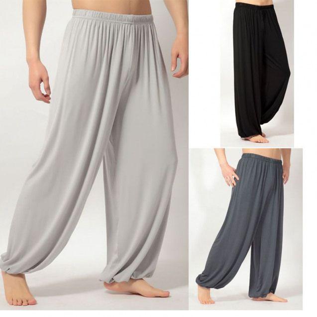 Modal Yoga Pants Bloomers Men Yoga Fitness Trousers Tai Chi Bloomers Pants Fitness Pants Autumn And Winter Sk5111 Ch Visuais Masculinos Roupas Masculinas Looks