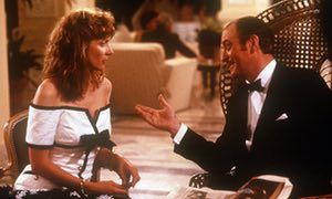 Glenne Headly with Michael Caine in Dirty Rotten Scoundrels