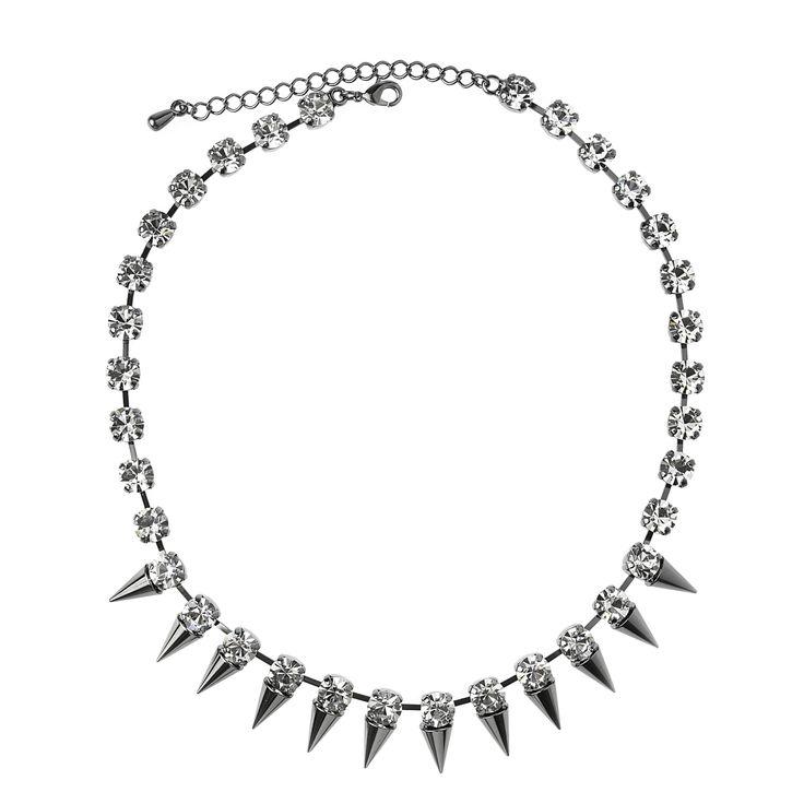 SPIKE Gunmetal necklace