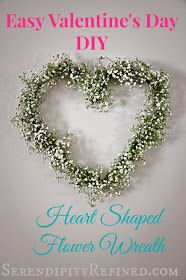 Serendipity Refined: DIY Heart Shaped Flower Wreath Tutorial
