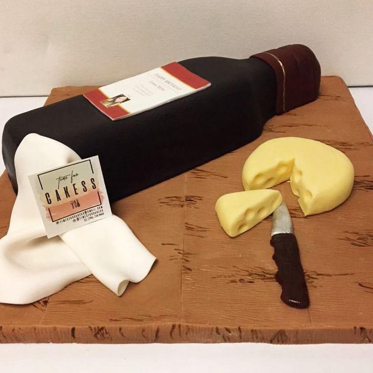 Torta de botella de vino 🎂