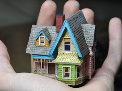 Up Miniature Carl's House Papercraft | Papercraft Paradise | PaperCrafts | Paper Models | Card Models