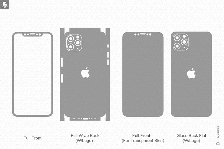 Iphone 11 pro max 2019 skin template vector iphone