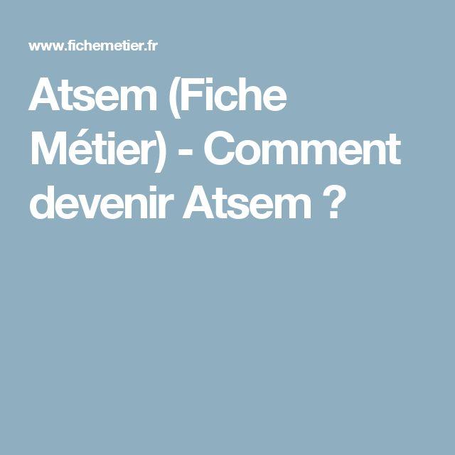 Atsem (Fiche Métier) - Comment devenir Atsem ?