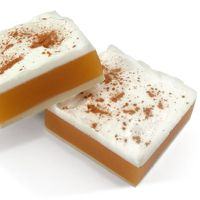 """DIY Soap Making Recipe - Pumpkin Pie Squares Soap. This handmade soap looks and smells so real they need a """"do not eat"""" sign!"""