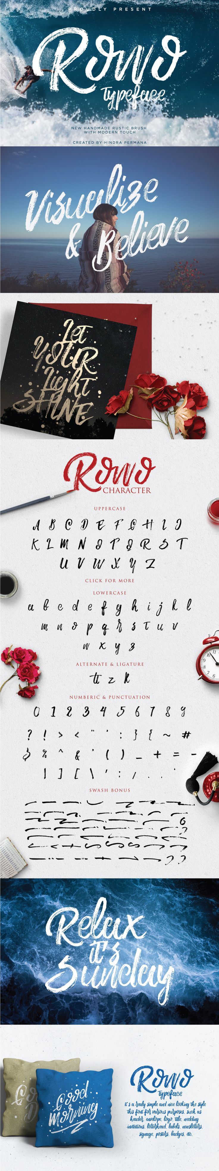 ROWO Free Brush Typeface Commercial Use