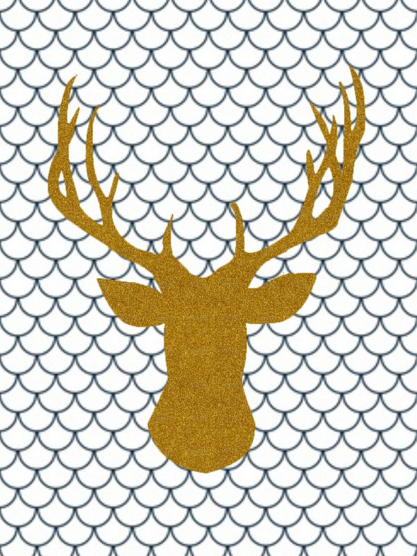 Free printable poster of a deer. Perfect wall decor for the kids room. Interior design. Kids room inspiration and ideas.