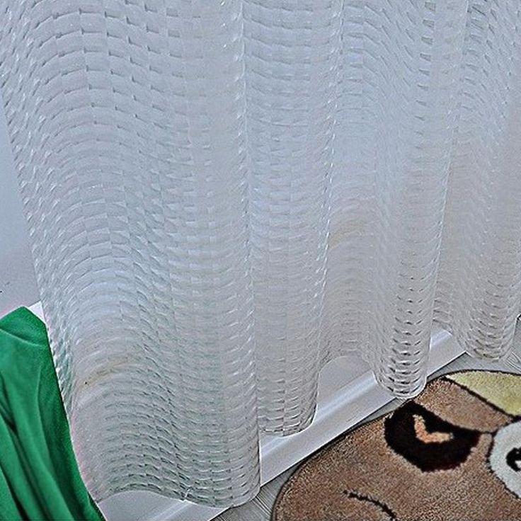 Plastic PEVA 3d Waterproof Shower Curtain Transparent White Clear Bathroom Curtain  – Best match