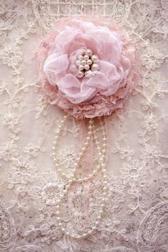 pink flower and lace