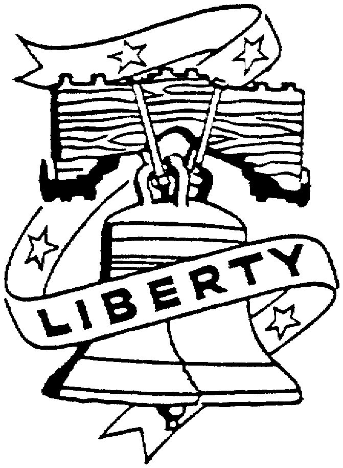 liberty bell coloring page az coloring pages