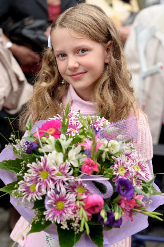 Phoebe as a flower girl