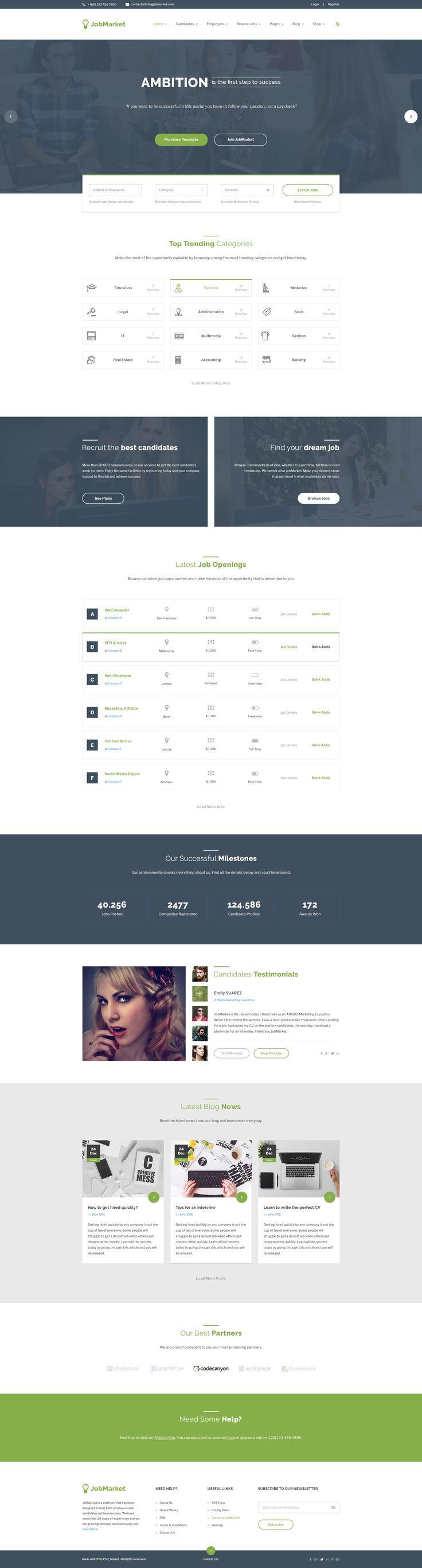 JobMarket - Job Portal PSD Template (Multipurpose) by PSD_Market | ThemeForest