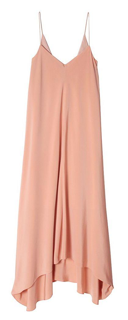 Blush silk slip dress