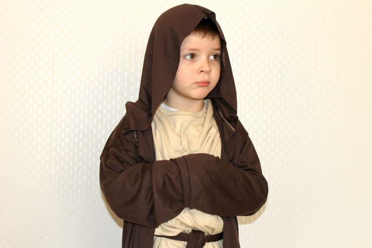 Déguisement Obi Wan Kenobi, pantalon, tunique, cape.