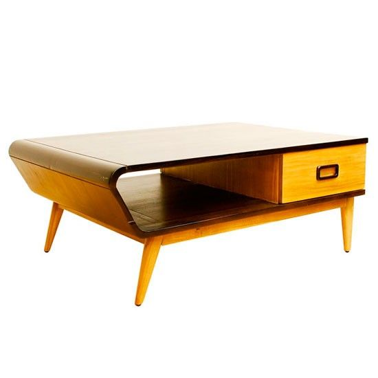 Retro pine effect coffee table residence refinement for Retro modern furniture