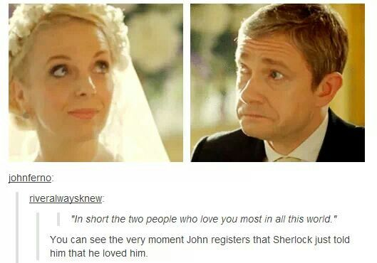 "Can we just talk about Martin Freeman?  Like, we all just accept that John is so moved.  We all go ""awwww.""  But we can only do that because Martin Freeman is sitting there like a pro, BEING John Watson, making him real."