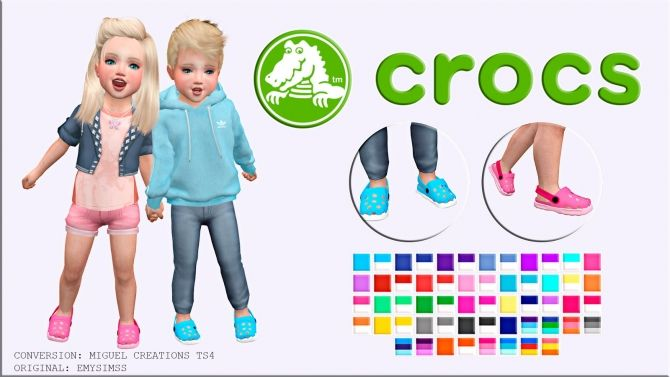 Crocs at Victor Miguel • Sims 4 Updates