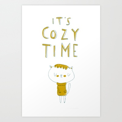 it's cozy time Art Print by Lori Joy Smith - $18.00