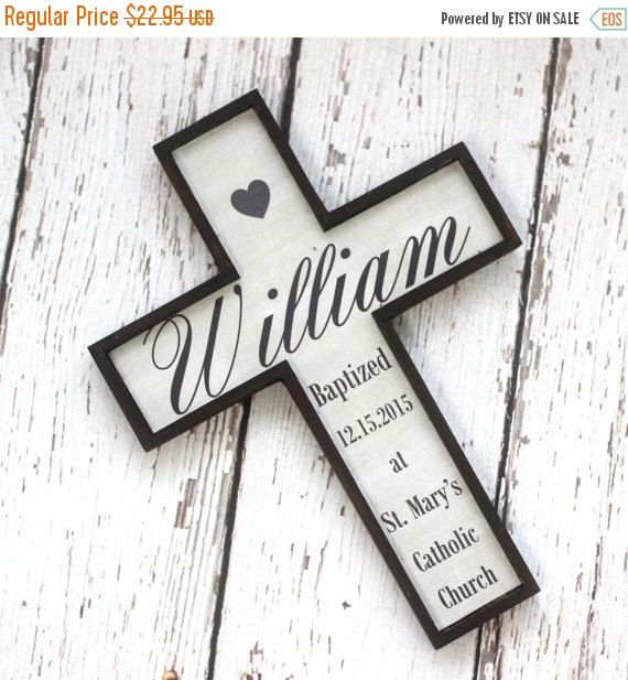 SALE Baptism Gift Cross First Communion Personalized Custom Gift for Boy or Girl by PhotoPhilosophyShop on Etsy https://www.etsy.com/listing/229345869/sale-baptism-gift-cross-first-communion