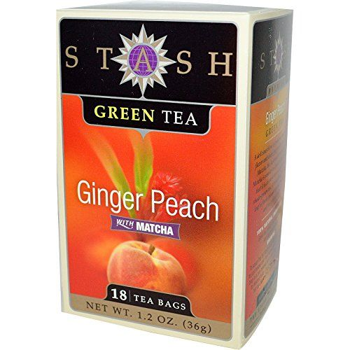 Stash Tea Company, Premium, Ginger Peach Green Tea with M...