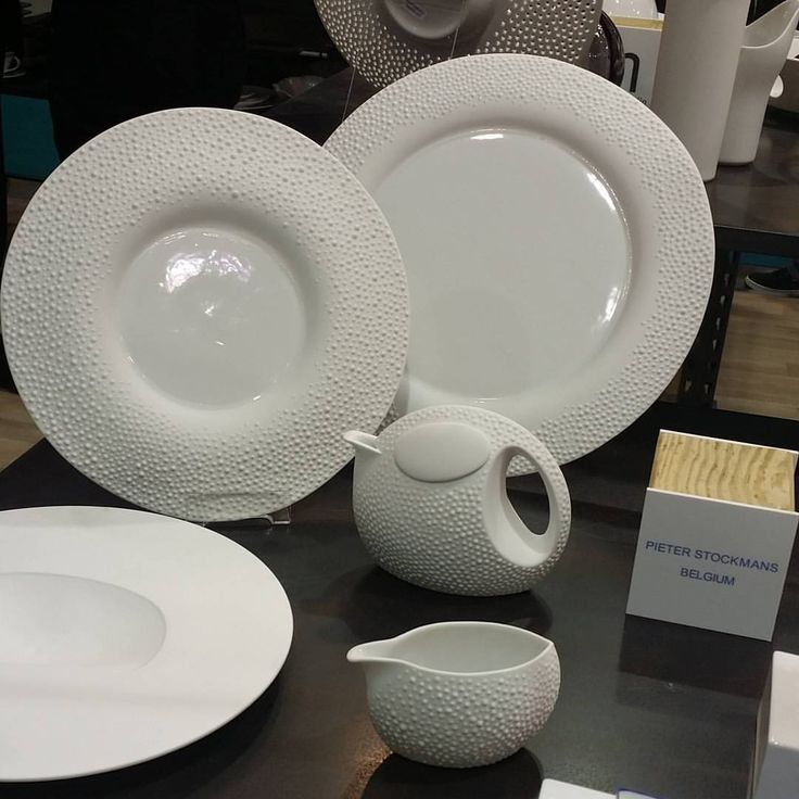 More from Milan… Belgium's #PieterStockman dinnerware… at @hostmilano #design #differentiatingwithdinnerware #Host2015 #TabletopMatters