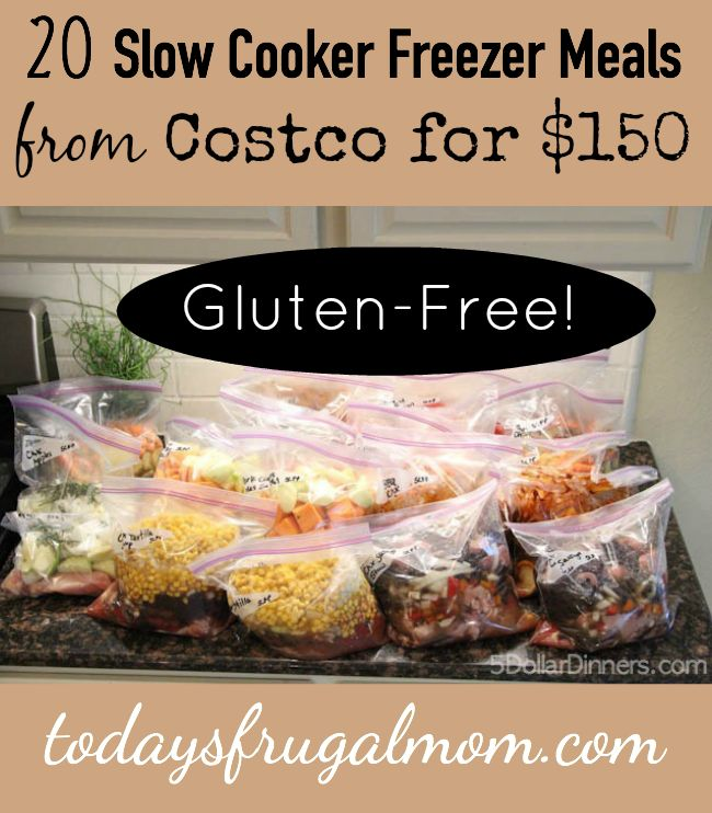 20 Gluten Free Slow Cooker Freezer Meals From Costco For $150 :: TodaysFrugalMom.com
