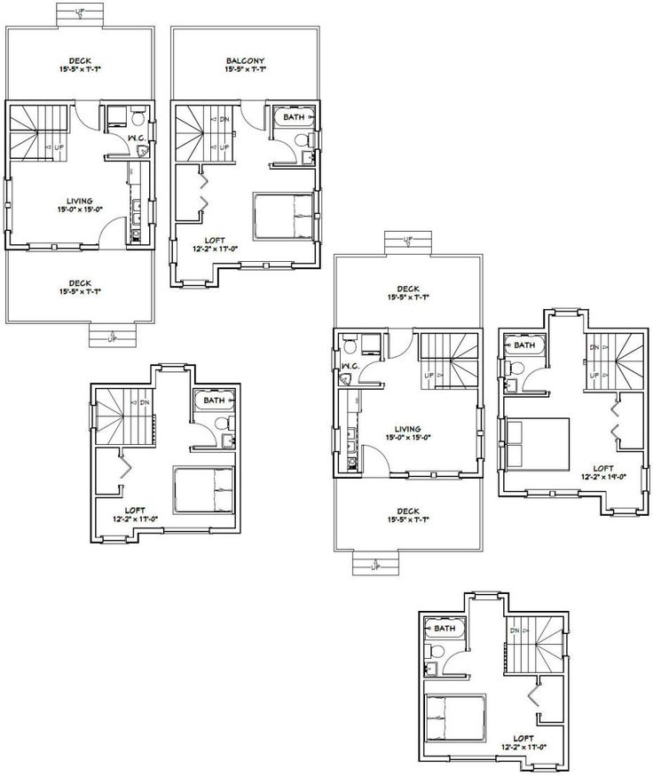 177 best images about small house plans on pinterest for 16x16 kitchen designs