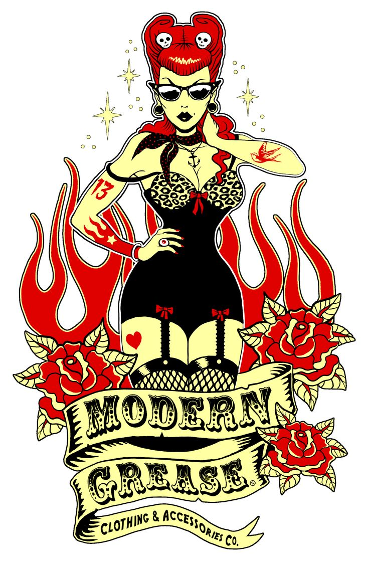 Modern Grease Clothing Co.  www.moderngrease.com