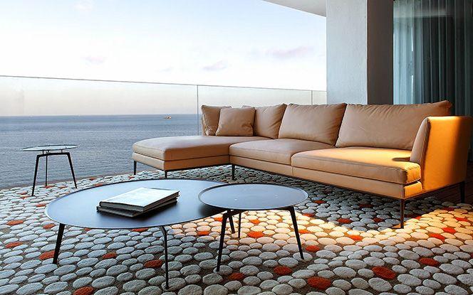 Модульный диван Portofino. Варианты обивки: кожа или дакрон.  Дизайн Giuseppe Bavuso