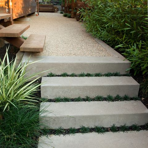 Concrete Driveway With Edge Exposed Aggregate Concrete Design Ideas, Pictures, Remodel, and Decor - page 4
