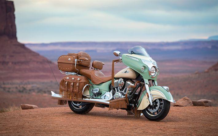 Lataa kuva Indian Roadmaster Klassinen, 4k, 2017 polkupyörää, desert, superbike, USA
